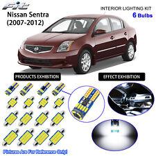 6 Bulbs LED Interior Light Kit Cool White Dome Light For 2007-2012 Nissan Sentra