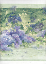 WALLPAPER BORDER PURPLE HYDRANGEA FLOWERS NEW ARRIVAL FLORAL WIDE bordeR