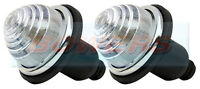 2x LAND ROVER CLASSIC MINI FRONT/REAR CLEAR INDICATOR LAMPS LIGHTS AS LUCAS L594