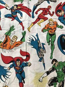 Pottery Barn Kids DC MARVEL Twin Sheet Set Aquaman Superman Batman Flash Comic