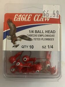 Eagle Claw Ball Head Jig Size 1/4 Red