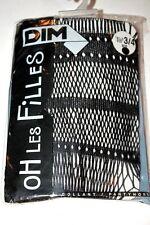 DIM OH Les Filles GIRL Pantyhose COLLANTS Tights 3/4 Black FLEUR BAGUETTE