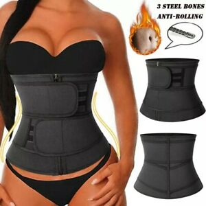 Women Waist Trainer Cincher Belt Zipper Body Shaper Corsets Girdle Slimming Belt