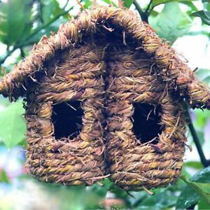 Outdoor Handmade Wooden Bird House For Hummingbird Other Small Bird Nest Hanging