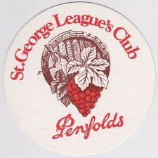 St George Leagues Club Dragons - Penfolds-  Collectable Vintage Coaster