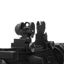 Flip Up Front Rear Iron Sight Set fit Picatinny Rails and Flat top for Hunting