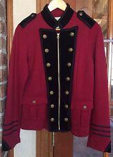 Ralph Lauren Denim Supply Embroidered Military Officer Jacket Women Large New