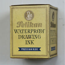 Vintage PELIKAN Prussian Blue WATERPROOF DRAWING INK - C. 1960's.