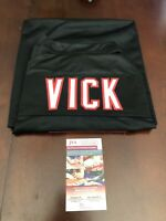 Michael Vick Atlanta Falcons Custom Black Autographed Jersey NFL COA Included