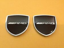 Metal Mercedes Benz AMG Emblem (2pcs) Side Badge Sticker Decal Fender Hood Trunk