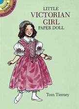 "LITTLE VICTORIAN GIRL PAPER DOLL, Emily, cut-out, 4 1/2"" doll, stand, 8 dresses"