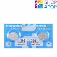 2 RENATA 395 SR927SW BATTERIES SILVER 1.55V WATCH SWISS MADE EXP 2021 NEW