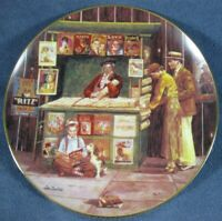The Corner Newstand Collector Plate 4th Bygone Days Lee Dubin Bradford Exchange