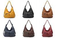 Ladies Designer Soft PU Leather Hobo Handbag Satchel Shoulder Tote Large Bag