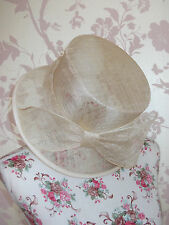 Marks & Spencer Ladies Natural Bow Detail Wedding Races Special Occasion Hat