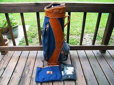 Vintage Burton American Amateur Classic Leather Golf Club Bag Jasper Alabama AL