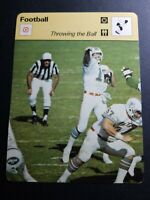 "1979 SPORTSCASTER BOB GRIESE MIAMI DOLPHINS 4.75X6.25"" THROWING THE BALL #45-04"