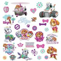 Roommates PAW PATROL Girl Pups 30 Peel & Stick Wall Decals Puppy Room Stickers