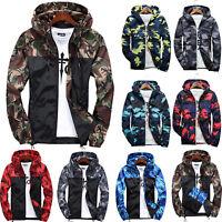 US Men's Camo Winter Hooded Coat Tops Hoodie Sweatshirt Jacket Outwear Sweater