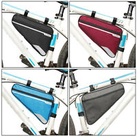 Rode Bicycle Front Frame Triangle Bag MTB Cycling Bike Tube Pouch Holder Saddle