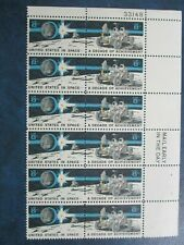 The United States in Space-A Decade of Achievement  #1435b Plate block of 12