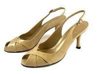 STUART WEITZMAN Beige Peep Toe Pumps Shoes Size 7.5 Beige Patent Leather