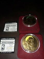 Highland Mint Dennis Rodman Coin Lot Green And Yellow Hair