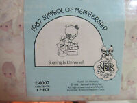 "Precious Moments ""Sharing Is Universal"" 1987 Members Only Collector Club"