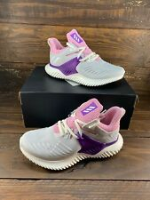 Adidas Alphabounce Beyond 2 Youth/ Girls F33984 Grey Pink Sneakers/Shoes- New
