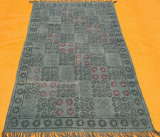 Hand Woven Wool Rug Contemporary Kilim Dhurrie Modern Block Printed Area Rug 4X6