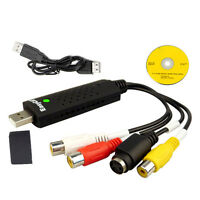 USB 2.0 Video Capture Card Adapter with Audio for PS XBOX 360 AV VHS DVT CCTV