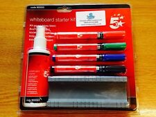 DRY WIPE WHITE BOARD STARTER KIT with PENS, CLEANER & RUBBER- 902053