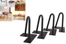 """6'' Set of 4 Hairpin Coffee Table Legs 1/2"""" Solid Steel DIY Vintage Table Legs"""