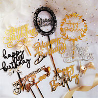 Supplies Baby Shower Decor Acrylic Cake Topper Happy Birthday Dessert Stand