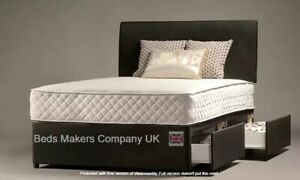 Superfine Chenille Fabric Divan Bed Base with Storage Options ✅BEST ONLINE
