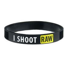 DSLRKIT I Shoot Raw Photography Yellow Silicone bracelet Photography Wristband