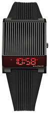 Bulova 98C135 Computron LED Digital Retro Watch Black