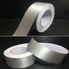 2inch W Silver Metal Matte Brushed Car Phone ALUMINUM Vinyl Wrap Sticker Tape AB