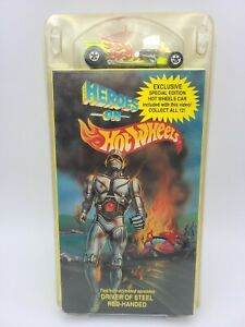 HEROES ON HOT WHEELS VHS/CAR 1991 PMZ-003 volume 3 Animated Movie With Car