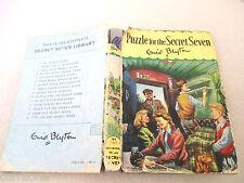 Enid Blyton PUZZLE FOR THE SECRET SEVEN 1972 HCDJ Burgess Sharrocks