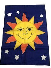 New listing Sun Face Stars Celestial Garden Flag Banner 28� X 44�
