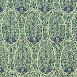 Covington ANTOINETTE Floral CORNFLOWER Blue Drapery Upholstery Sewing Fabric BTY