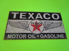 tin metal home garage repair shop man cave decor service station fuel texaco