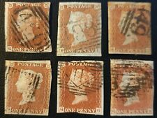 Duzik: Gb Qv Sg8/8a Mixed Used Unchecked Plates Stamps (No1805)*
