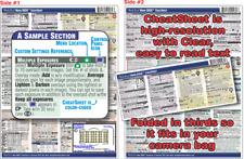 Nikon D850 Digital SLR CheatSheet guide manual Cheat Sheet help