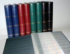 Luxus-A4-Briefmarkenalbum-Einsteckbuch 60 schwarze Seiten blauer Einband