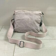 KIPLING Crossbody Messenger Handbag Pale Pink Small Zip Closure Adjustable Strap