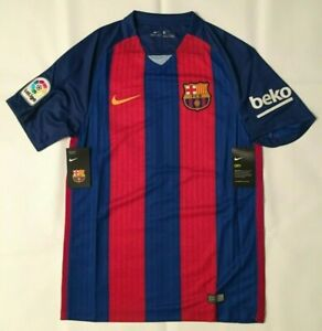 NWT NIKE FC BARCELONA 2016/17 RED/BLUE HOME SOCCER JERSEY 776850-481 MENS SZ 2XL