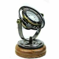 Antique brass black finish nautical compass vintage binnacle gimballed compass