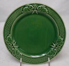 "BORDALLO PINHEIRO Portugal RABBIT GREEN pattern Salad Plate  8-3/8"" crazed"